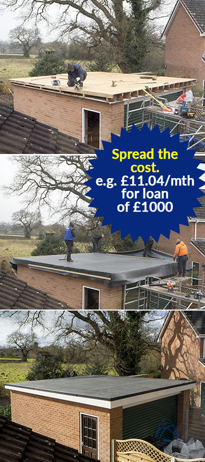 Flat roof with finance