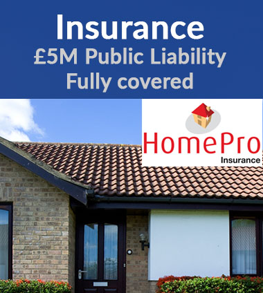 Fully insured roofer
