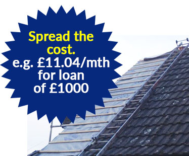 Roof repairs with finance